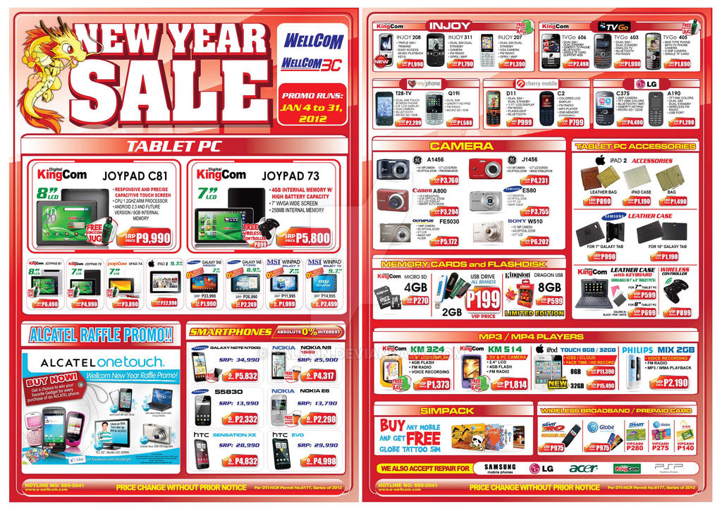 New Year Sale Flyers Wellcom COMPILED by ealgon on DeviantArt