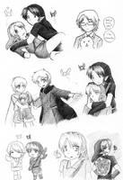 Random doodles 2 by kurokawa-ayumi