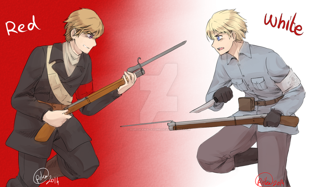 Red Finland VS White Finland by kurokawa-ayumi