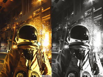 astronaut on earth by LazyN