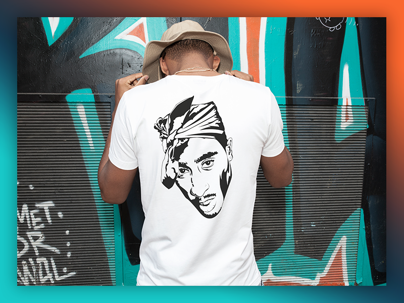 2pac Illustration by LazyN