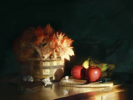 Morning Flowers and Fruit by Andantonius