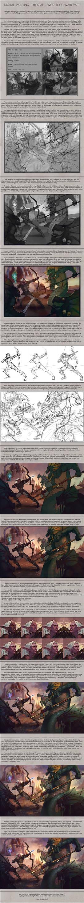Digital Painting Tutorial - World of Warcraft