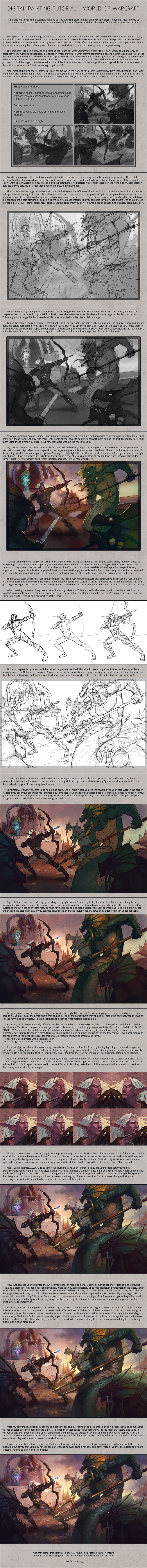Digital Painting Tutorial - World of Warcraft by Andantonius