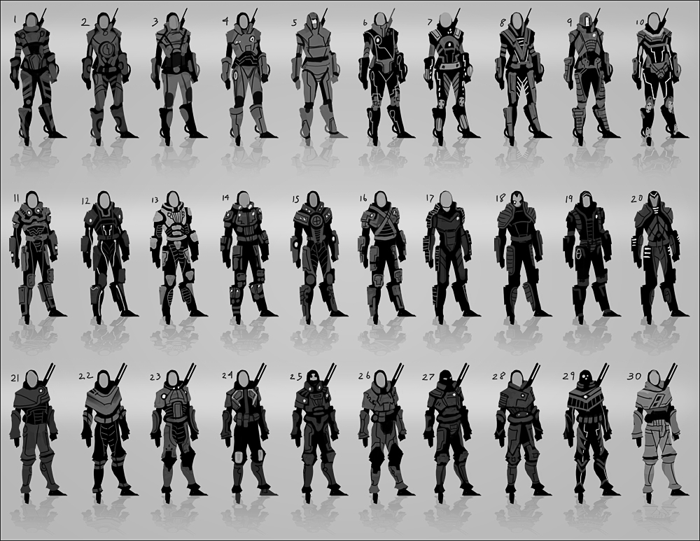 Character Design Thumbnails : Character thumbs by andantonius on deviantart