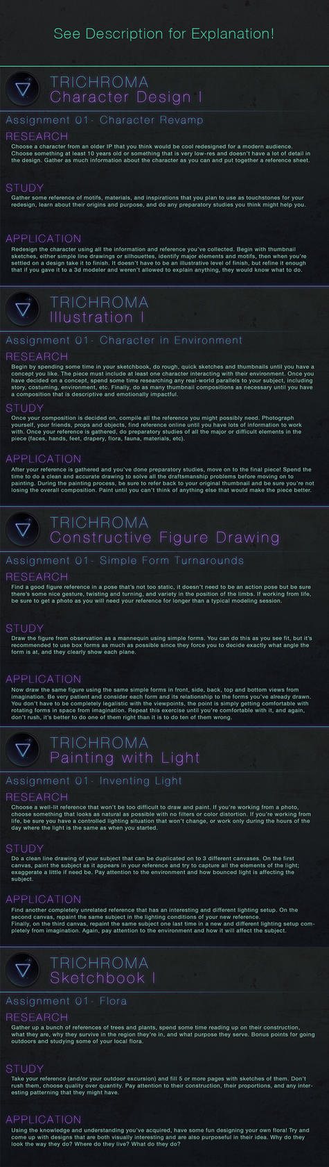 Trichroma Week 1 Assignments by Andantonius