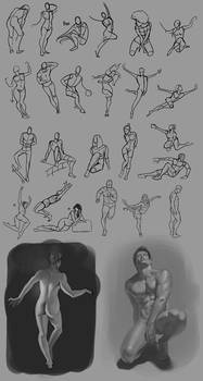 Figure Drawing 07-18-14 by Andantonius