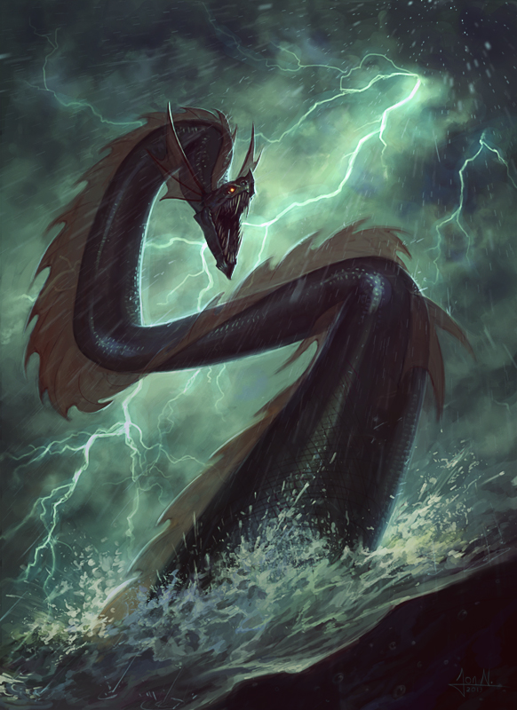 Sea Serpent by Andantonius on DeviantArt