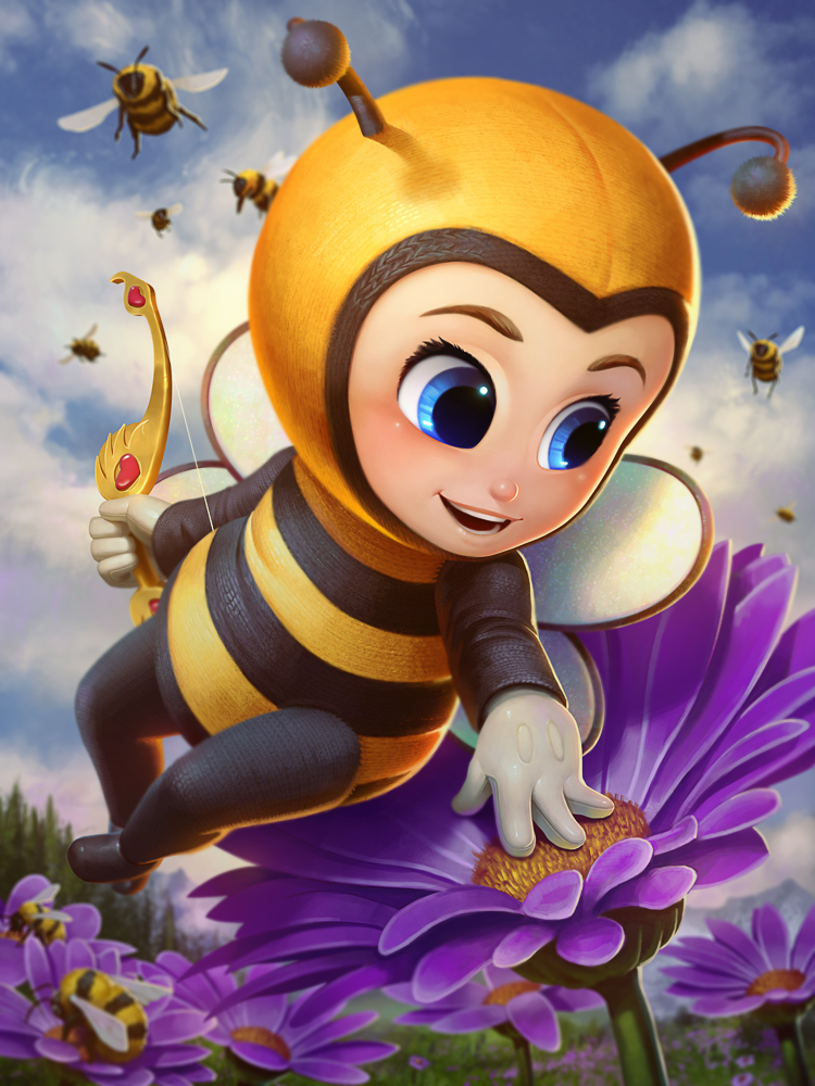 Cupid Honey Bee by Andantonius