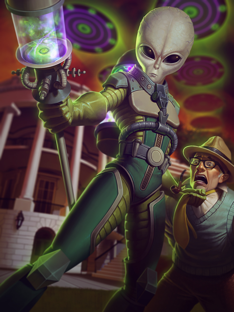Galactic Invader Ah Puch by Andantonius