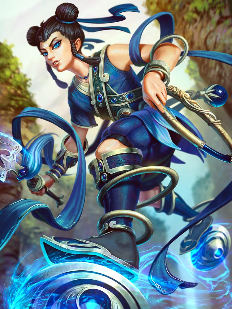 Ne Zha Blue Lotus by Andantonius