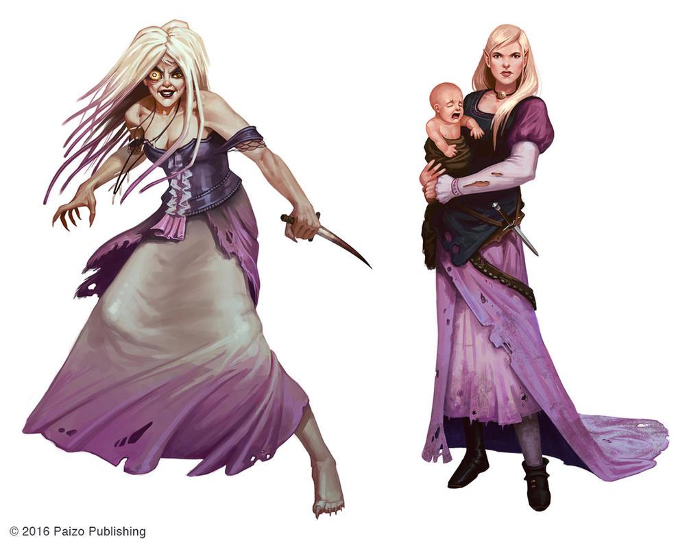 Gyronna Characters by Andantonius