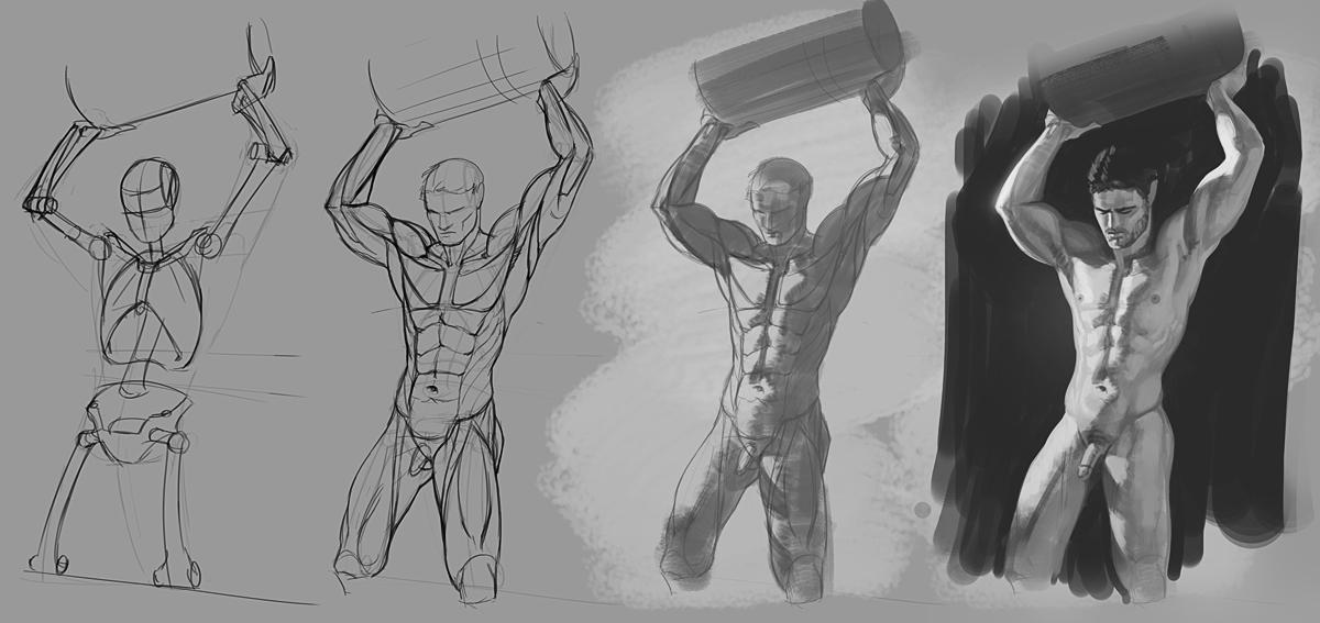 Figure Studies 04-01-16 by Andantonius