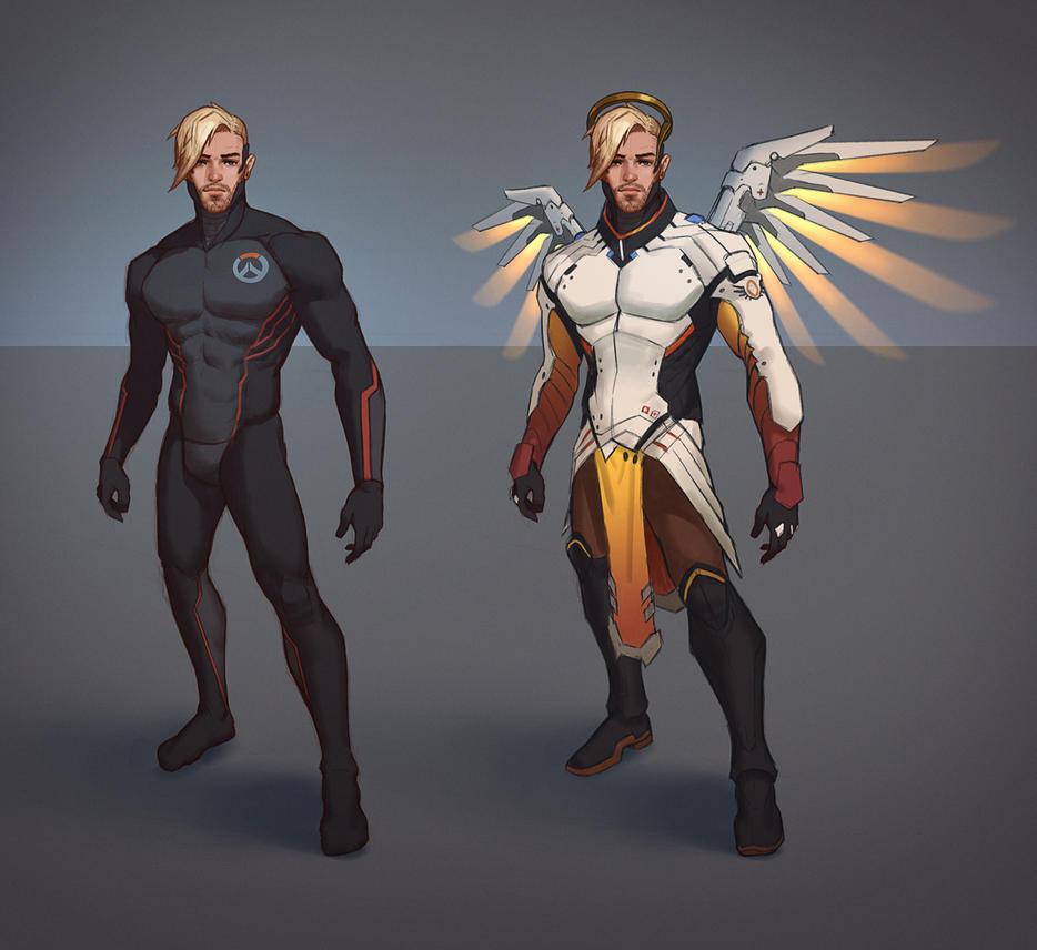 Mercy Genderbend by Andantonius