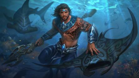 Riptide Poseidon by Andantonius