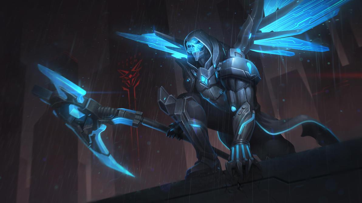 Cyber Scythe Thanatos by Andantonius
