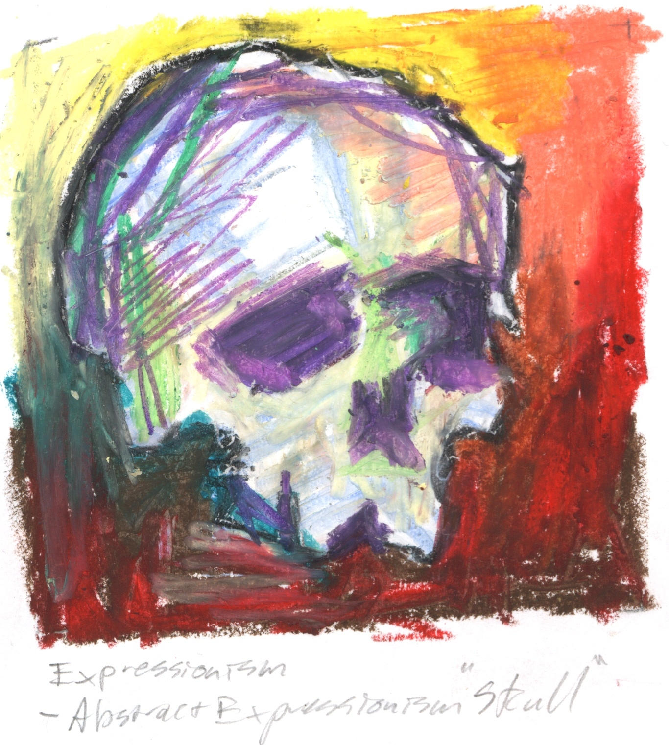 "Abstract Expressionist ""Skull"" By Kiltpower On DeviantArt"