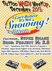 Button Mash Meetup poster for december2013 by SnD-Frostey