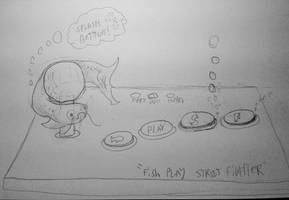 Fish Play Street Fighter (sketch) by SnD-Frostey