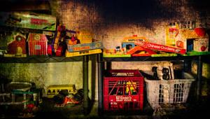 Derelicte Toy Shelf