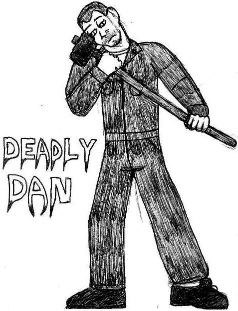Deadly Dan: Break Time Sketch by jamesgannon