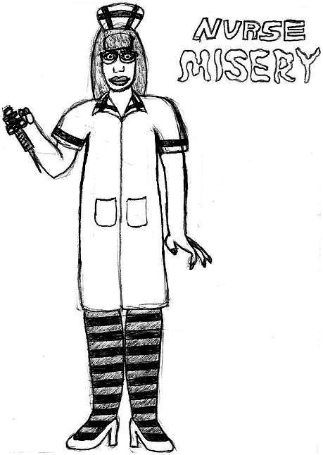 Nurse Misery: Break Time Sketch by jamesgannon