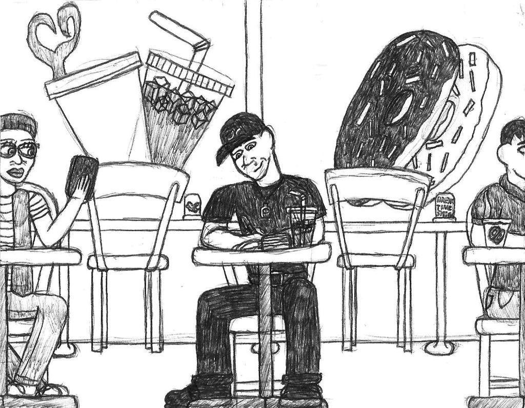 Break Time Sketching: Break Time Sketch by jamesgannon