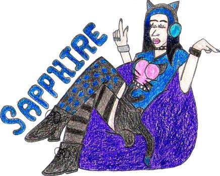 Sapphire- Break Time Art #130