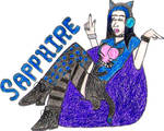 Sapphire- Break Time Sketch