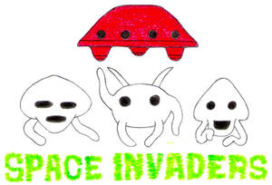 Space Invaders- Break Time Sketches