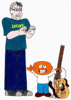 Joe Cartoon and Joe Momma- Break Time Art #205