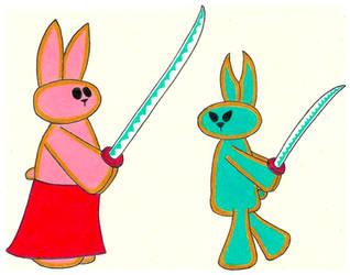 Samurai Lapin and Ozaki- Break Time Art #223
