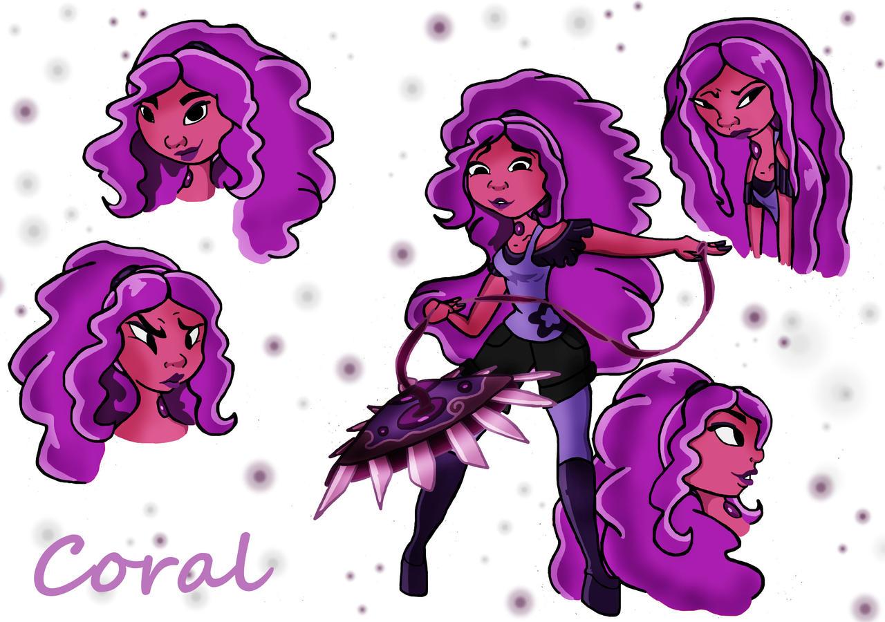 Steven Universe: Coral (slight re-design) by BerrieBlosym
