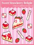 S. Strawberry Delight Sticker Designs