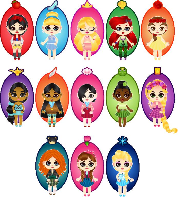 Chibi Disney Princesses by MidniteHearts