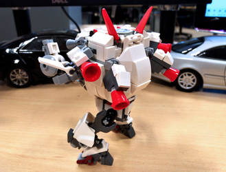 D.Va Lego Meka White Rabbit Back