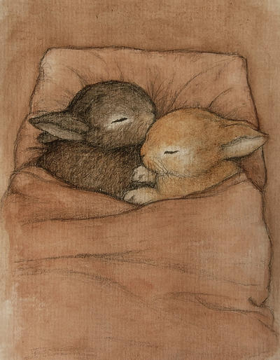 baby bunnies by moussee