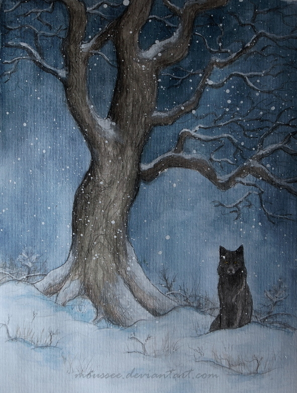 winter wolf by moussee