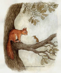squirrel and mouse