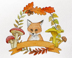 Autumn fox by moussee