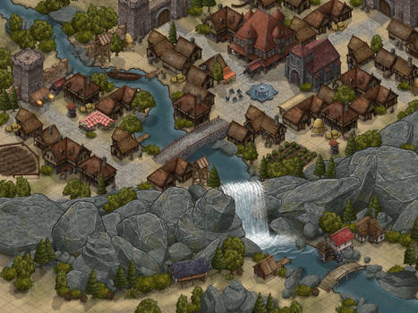 City Map With Inkarnate