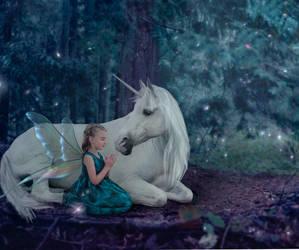Unicorn Kisses, Fantasy Wishes by sweetcanadiangirl77