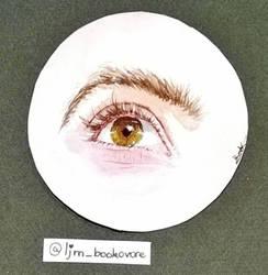 Aquarelle eye painting