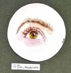 Aquarelle eye painting by Bookovore