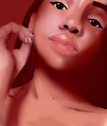 Female portrait 3 - Commission by Bookovore