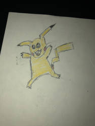 Pikachu Sketch  by GuessWhoLovesAdopts