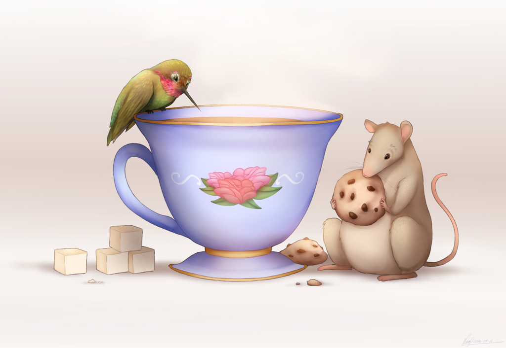 Teatime with friends! by Maxxie-Delu
