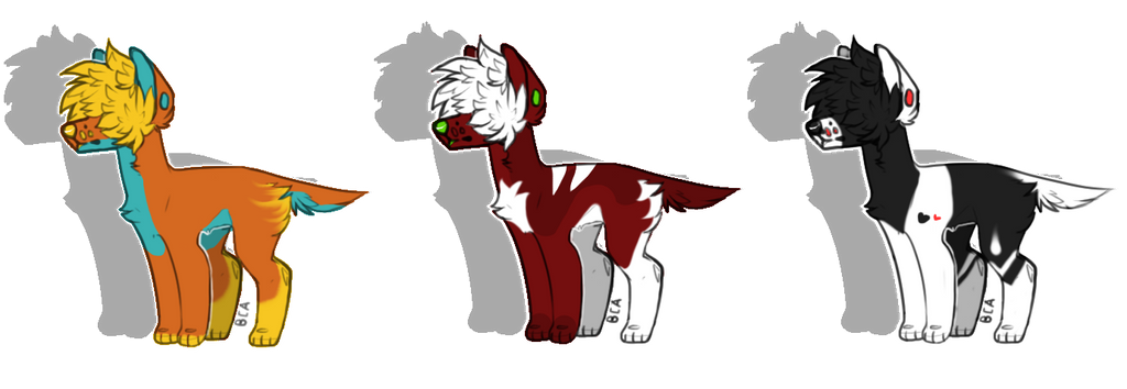Emo Dog Adoptables Batch #1 (OPEN) by Onixii