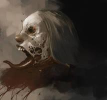 zombie head by tonysandoval