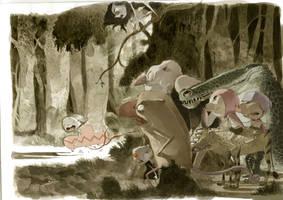 monstruos en el bosque by tonysandoval